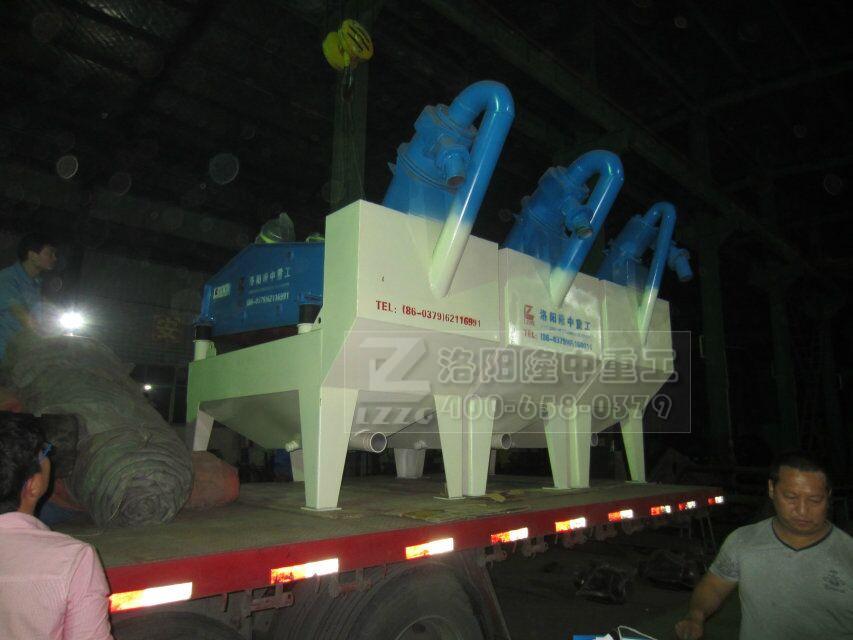 隆中重工三台细沙回收机发往广东韶关仁化县